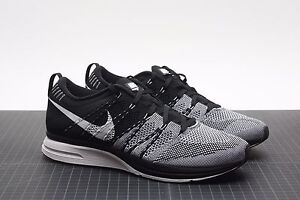f2e77a111f46 ... australia image is loading nike flyknit trainer black white 532984 010  padded 99320 92dac