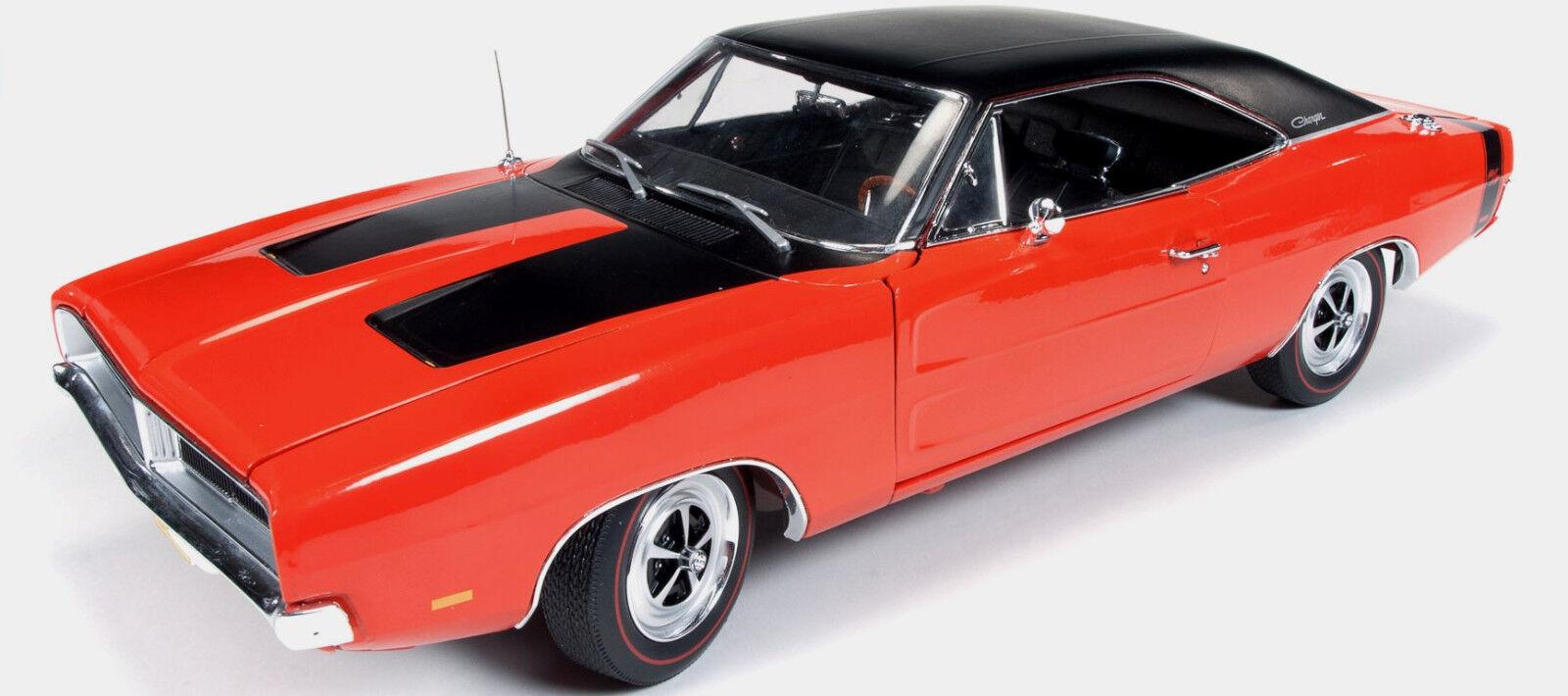 1969 Dodge Charger R T HEMI-Orange 1 18 Auto World 1026