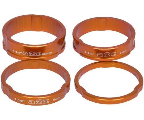 """8 mm 5 mm Alliage A2Z Casque Entretoises 1.1//8/"""" MTB Vélo 3 mm 10 mm Orange Spacer"""