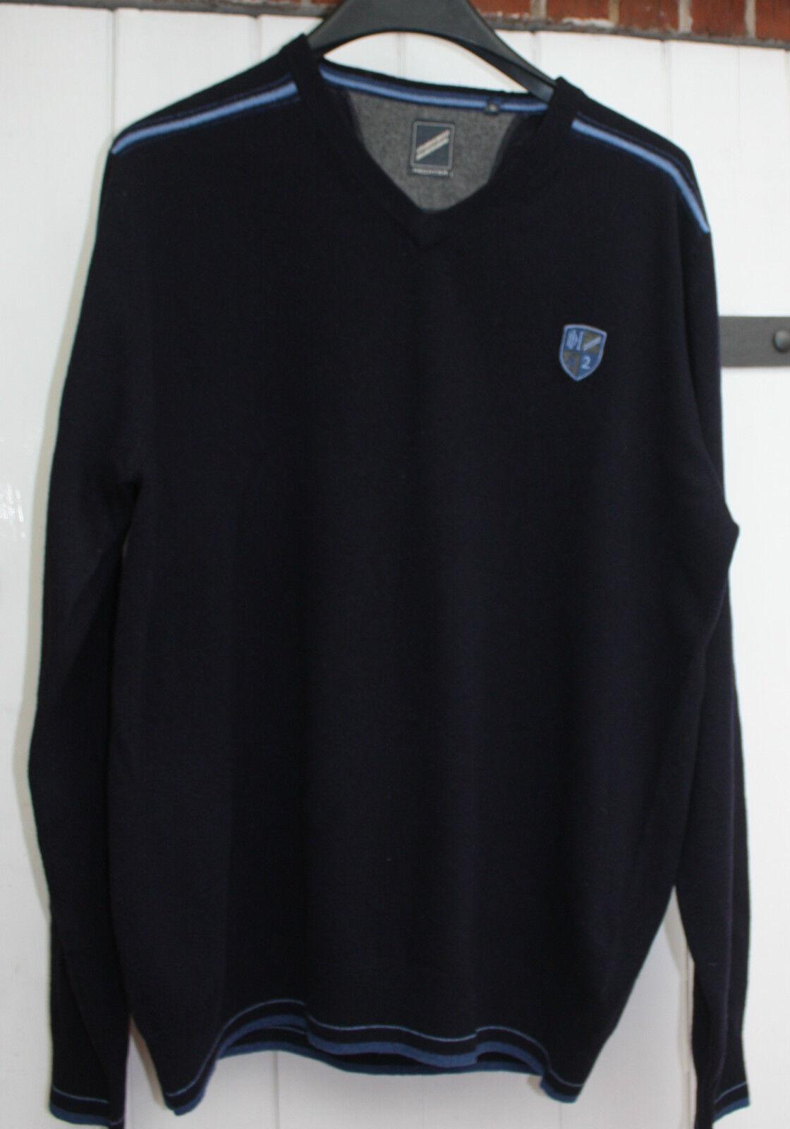 Pullover Daniel Hechter - Gr.XL  - 54 dunkelblau  V-Ausschnitt - Neuware