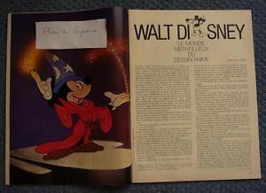 Coupure De Presse French Clipping Walt Disney 1972