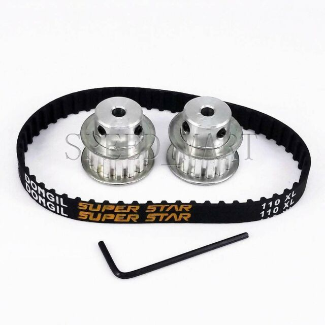 2pcs XL XL15 Timing Pulleys 15 Tooth 10mm Bore & 110XL Belt for Stepper Motor
