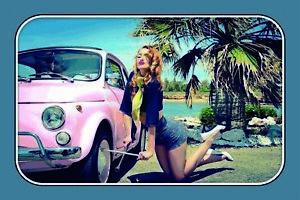Pin-Up-Girl-Pneus-Panneau-Metallique-Plaque-Voute-Etain-Signer-20-X-30-cm-CC0885