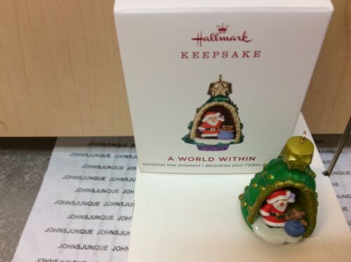 A WORLD WITHIN HALLMARK ORNAMENT 2019 MINIATURE NEW #5 IN SERIES IN BOX