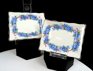WEATHERBY-DURABILITY-STOKE-ON-TRENT-2-ROYAL-FALCON-WARE-FLORAL-5-034-TRINKET-DISHES