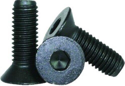 M6 X 16 mm Flat Socket Cap Screw Black Zinc 16 pc Flush 9 mm thread len.