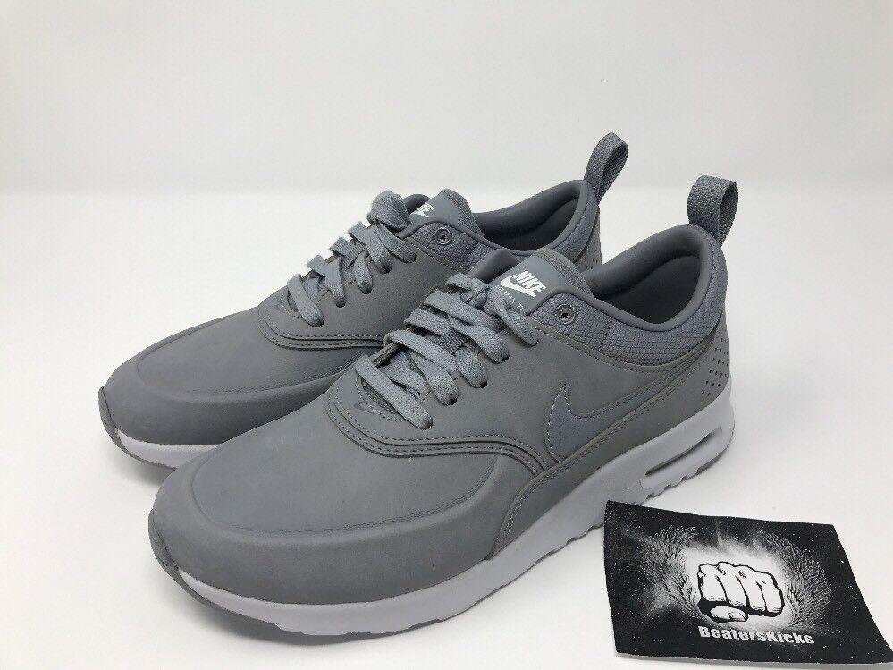 Nike air max thea premium läuft stealth / aus platin / Weiß 616723 009 größe 5