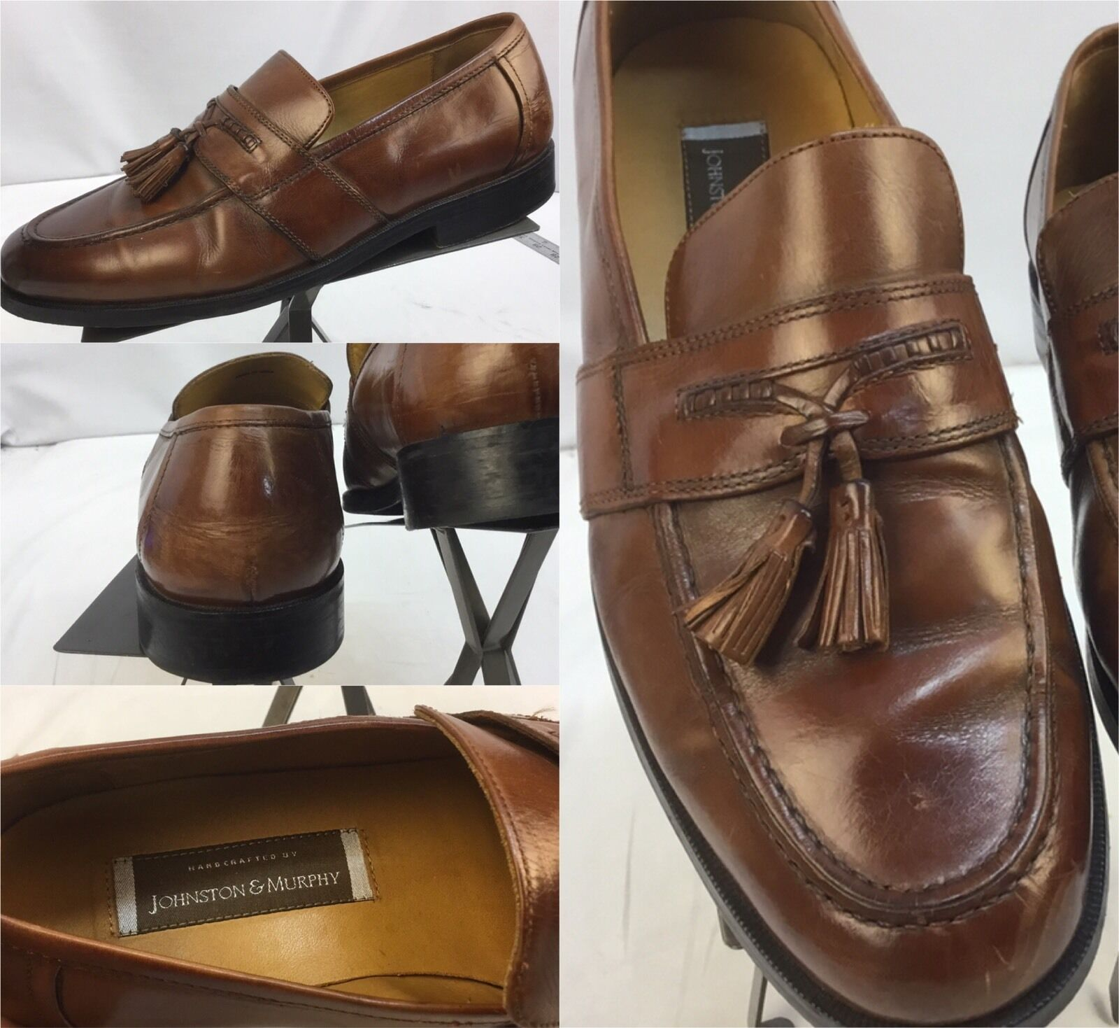 Johnston Murphy M Dress Shoes Sz 10.5 M Murphy Brown Loafers Tassels India EUC YGI M da01fb