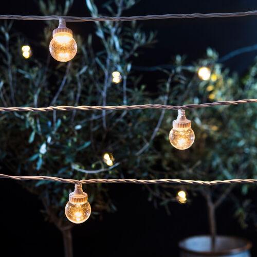LED Party Lichterkette koppelbar bis 150m Typ Pro Serie Außen Plexiglas white