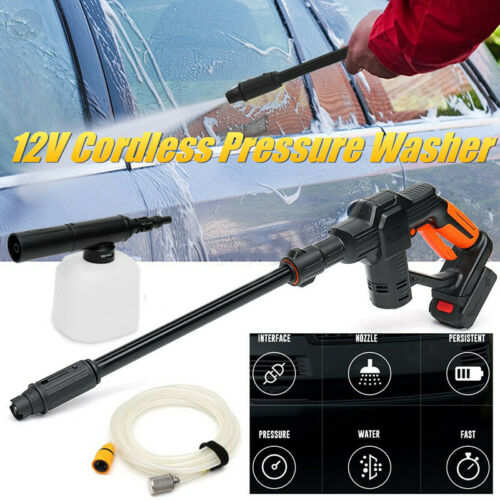 Hose Foam Lance Cordless Pressure Washer Portable Li-ion Battery Power Cleaner