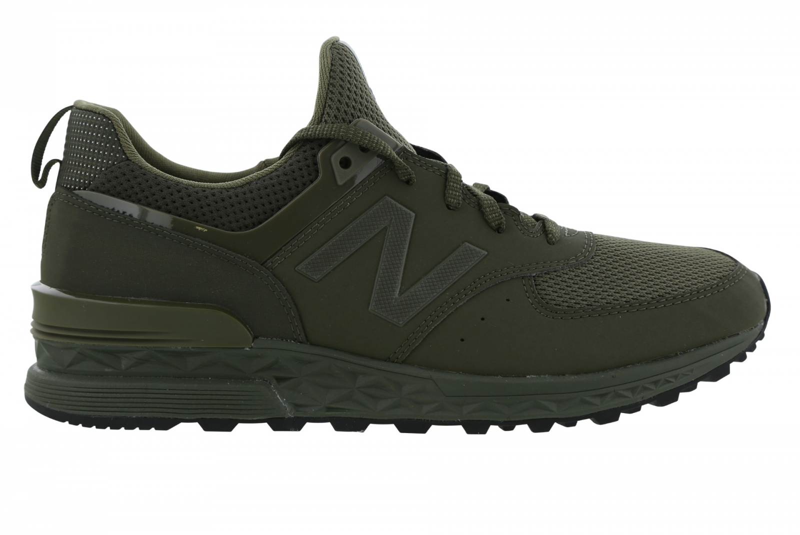 Mens NEW BALANCE 574 Olive Green Trainers MS574SCJ