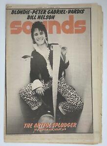 Sounds Music Mag June 14 1980 Splodge Blondie Peter Gabriel Vardis Bill Nelson