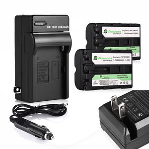 2x Np Fm500h Battery Charger For Sony Alpha Slt A57 A58