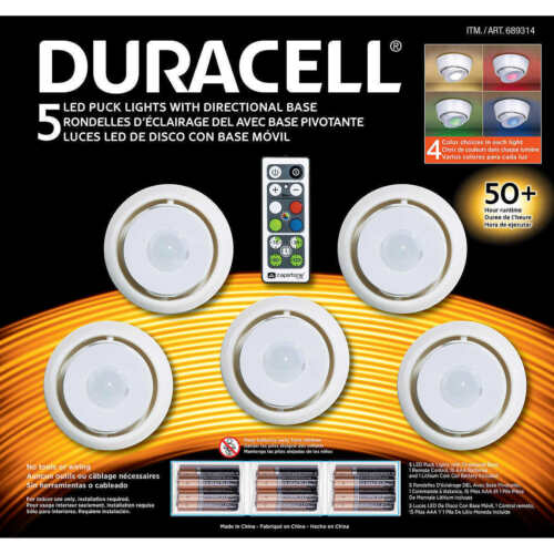 BRAND NEW!!!! DURACELL 5 LED Pack Lights With Directional Base  FREE SHIPPING!!