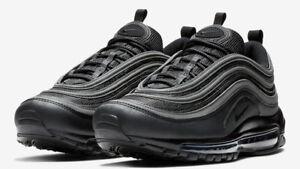 Details about Nike Air Max 97 Triple Black White Reflective Running Men's BQ4567 001