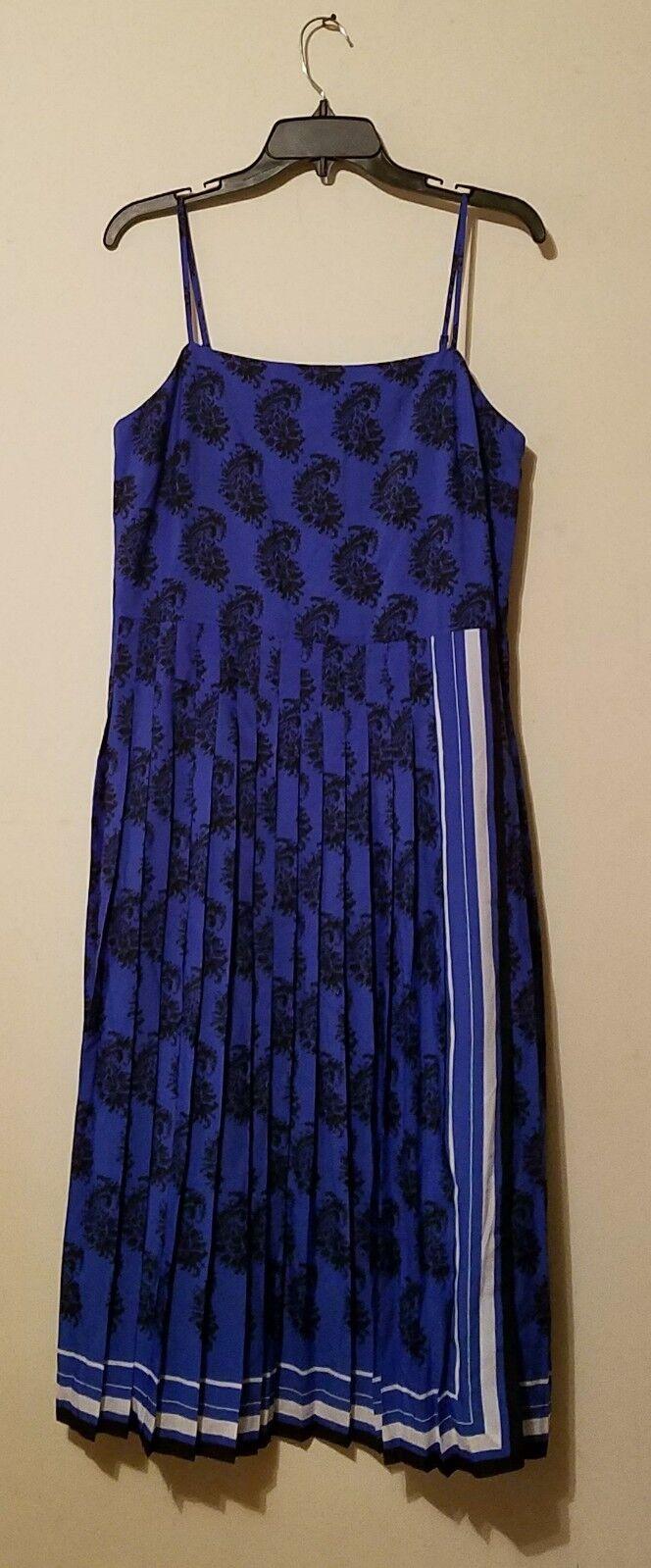 Banana Republic Paisley Pleated Dress Petite  Größe 10p