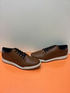 4b032ea7a30 ALDO Brown Leather Lace Up Low Top Casual Sneakers Men's Size 12 | eBay