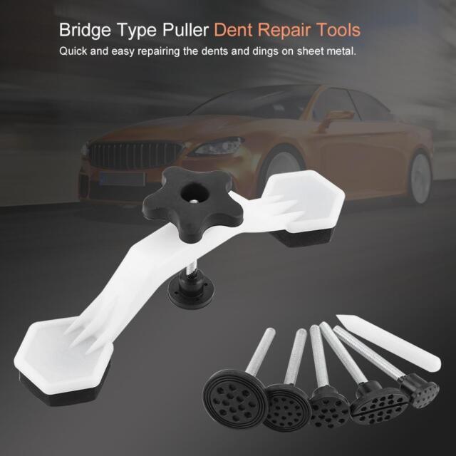 Car Body Paintless Dent Repair Tools Puller Hail Remover Set Black Glue Pulling