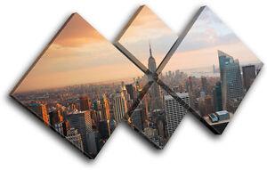 Image is loading New-York-Skyline-USA-City-MULTI-CANVAS-WALL-  sc 1 st  eBay & New York Skyline USA City MULTI CANVAS WALL ART Picture Print VA | eBay