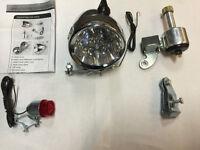 Motorized Bicycle Led Headlight, Taillight Bulb Set Friction Generator Dynamo