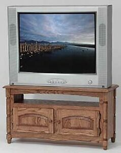 #873 Solid Wood Country Oak  TV Stand