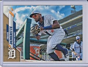 2020-Topps-Series-1-Rookie-Base-Gold-57-Travis-Demeritte-2020-Detroit-Tigers