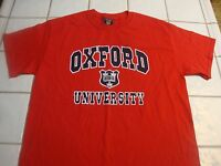 Oxford University School Crest Short Sleeve Cotton T Shirt Mens Size Medium