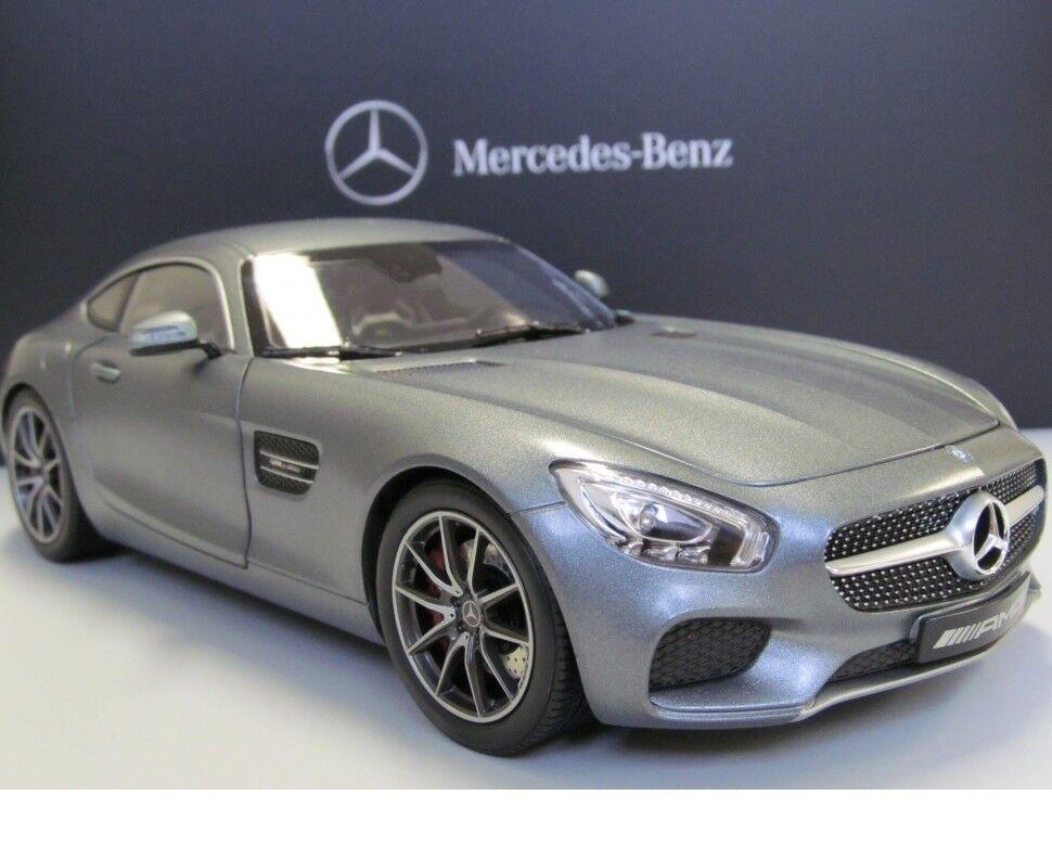 Mercedes-Benz Norev AMG GT-S Selenit grigio Coche Modelo 1 18 B66960343 Genuino Nuevo