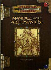 D&D - Dungeons & Dragons Ed 3.0: Manuale delle Arti Psioniche - USATO Buono