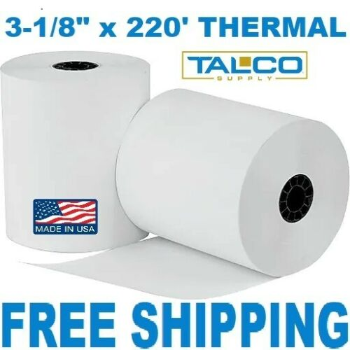 "25 3-1//8/"" x 220/' THERMAL POS RECEIPT PAPER ROLLS ~FAST FREE PRIORITY SHIPPING~"