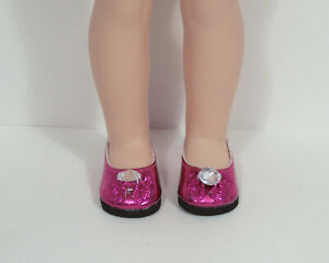 "DK PURPLE Metallic Doll Shoes For 14/"" American Girl Wellie Wisher Wishers Debs"