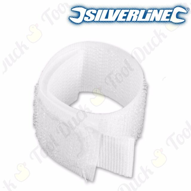 10x Extra Long 75cm Cable Ties White Zip Wraps