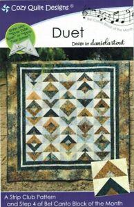 NEW-UNCUT-DUET-BY-DANIELA-STOUT-QUILT-SEWING-PATTERN-COZY-QUILT-DESIGNS-STRIP