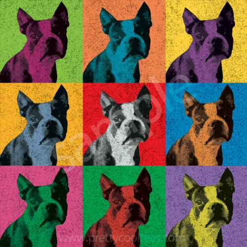 Men/'s Women/'s Youth Tank Long Boston Terrier Vintage-Style Pop-Art T-Shirt Tee