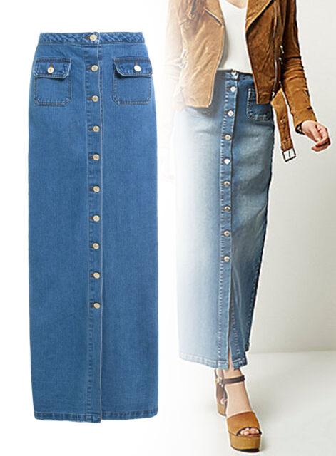 New Womens Marks /& Spencer Blue Denim Skirt Size 12 10
