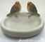 Robin-Bird-Bath-feeder-aged-stone-effect-bowl-ideal-garden-bird-robin-lover-gift miniatuur 4