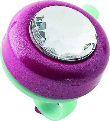 Riderz,Bike Ring Bell,Girls Bicycle Pink,With Bling Gem Top/&Mount For Handle Bar