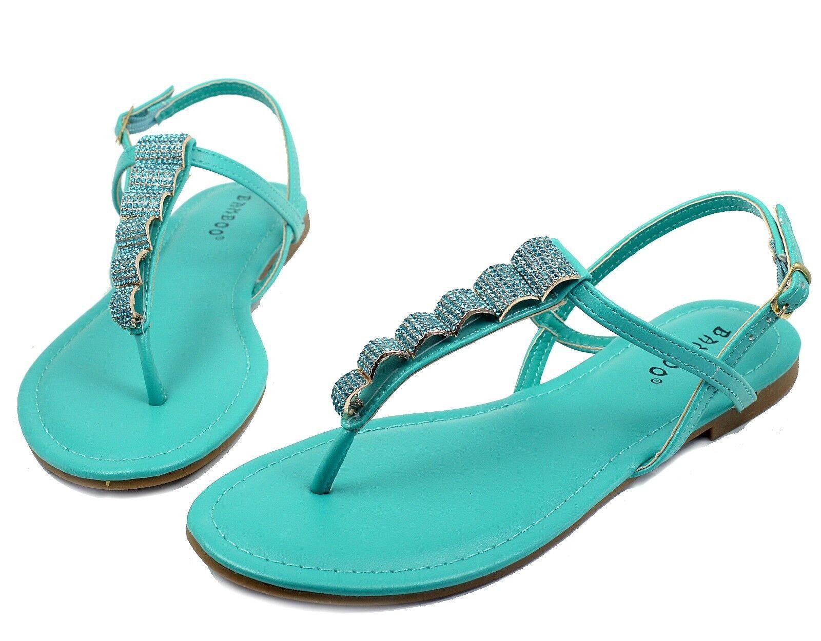 Josalyn-19 Party Precious Stone Flats Sandals Gladiator Party Josalyn-19 Women Shoes Mint 5.5 65a643