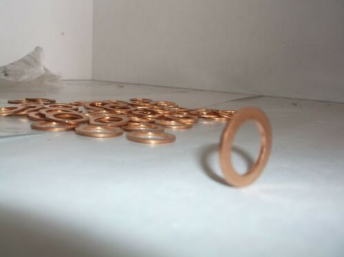 NEW size M13 x 18 Metric Copper Washers Sealing Rings Auto car Parts Pk50 E08T
