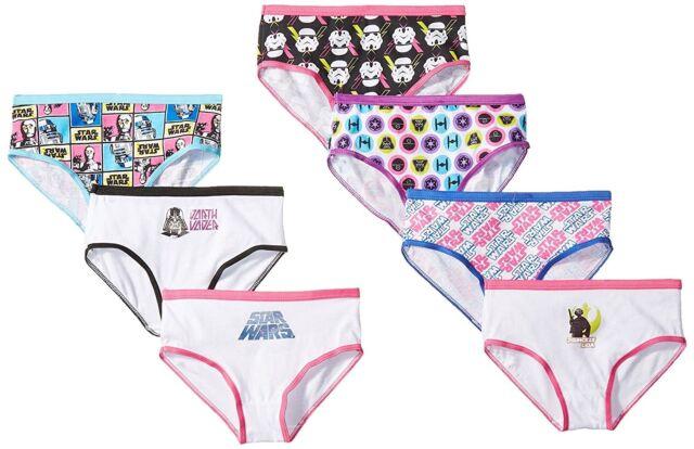 08a0d7ed688 Girls Disney Star Wars 7 Pair Hipster Underwear 100 Cotton Size 8 ...