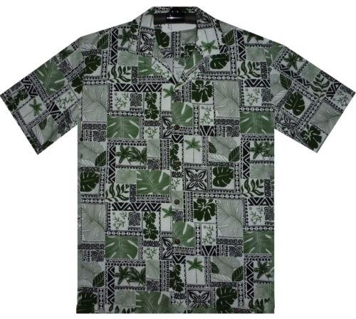 PLA Original Chemise Hawaïenne pour homme Puzzle traditionnellement Vert