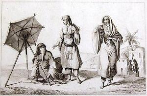 Schleier Hijab Arabische Frauen 1847 Jalahib Arabian Woman Femme Arabe ÇarŞaf Ein Unbestimmt Neues Erscheinungsbild GewäHrleisten Antiquitäten & Kunst Ansichten & Landkarten