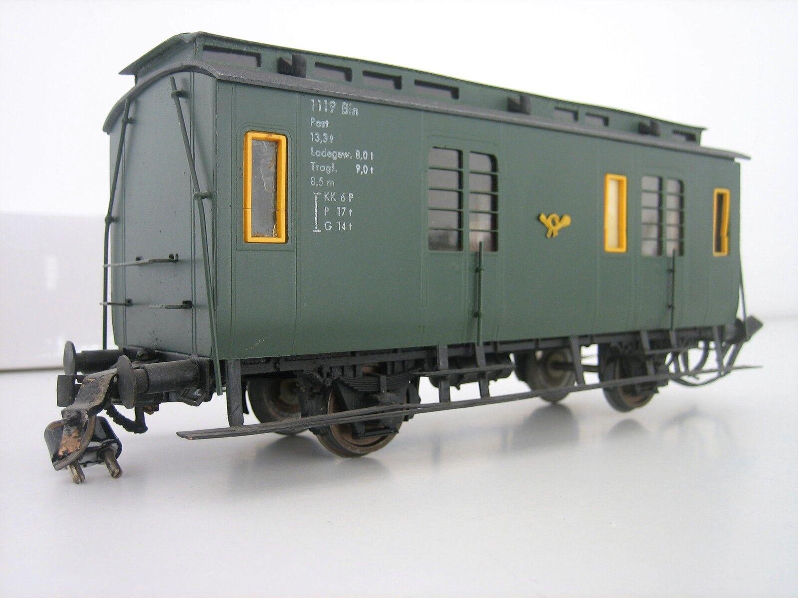 POSTA Vagone per Borsaagli 119 Bln Traccia 0 rarità versione metallica Hübner