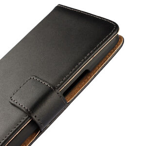 For-HTC-One-M10-HTC-10-Black-Genuine-Real-Leather-Business-Wallet-Case-Cover