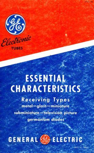 General Electric Tubes Essential Characteristics ETR-15 ETR-15e PDF CDROM