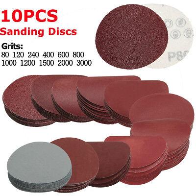 25Pcs Sanding Discs Sandpaper Nonporous Round Polishing Pad Mix Grit Set 125mm