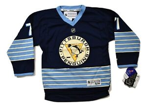 Reebok-NHL-Pittsburgh-Penguins-Evgeni-Malkin-Youth-Replica-Jersey-NWT-S-M