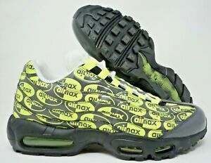 Details about Nike Air Max 95 Premium Mens Running Shoes Black Ash Volt White Size 11