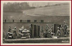 German WW2 Third Reich postcard WEHRMACHT Shooting exercise - Schiessübung RPPS