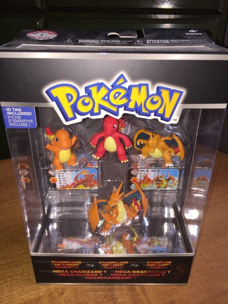 Pokémon Charmander  Charmeleon  Charizard  Mega 4 Pack Figures New In Package